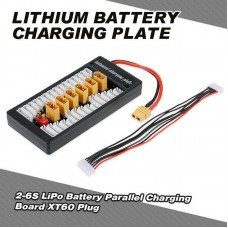 Multi 2S-6S Lipo Parallel Balanced Charging Board XT60 Plug For RC Battery Charger